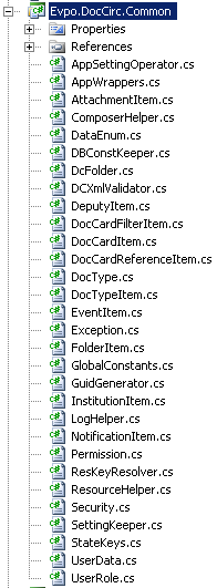 Common project files